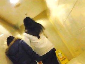 Chinese Girl Toilet Shanghai Metro City 2
