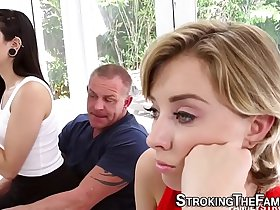 Stepdaughter rides dick