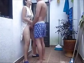 Horny Couple fucking on corridor very hot one