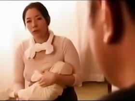japanese salesman sucks milky  boobs