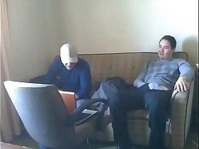 Straight guys cum together hidden cam