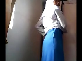 Asian muslim girl masturbates