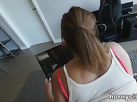 Hot gaming Sister fucked by her brother