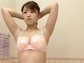 Busty japanese buying new bra to surprise boyfriend