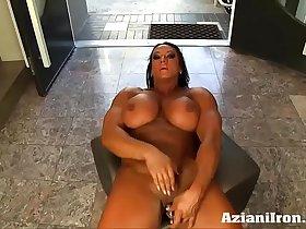 Aziani Iron Amber Deluca Amazon Bodybuilder with Huge Clit