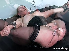 Spanking and piercings insertions