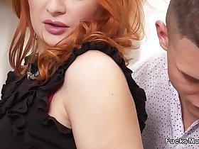 Teen guy bangs Russian redhead Milf
