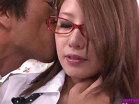 Mariru Amamiya pleases her needs with a good school fuck