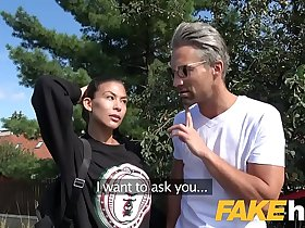 Public Agent Facial and hard public fucking for cheating American babe