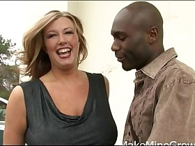 Big tits Zoey Andrews in interracial fucking
